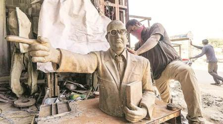 Gujarat: Karjan councillors come together to install Ambedkar's bust in Dalit wards