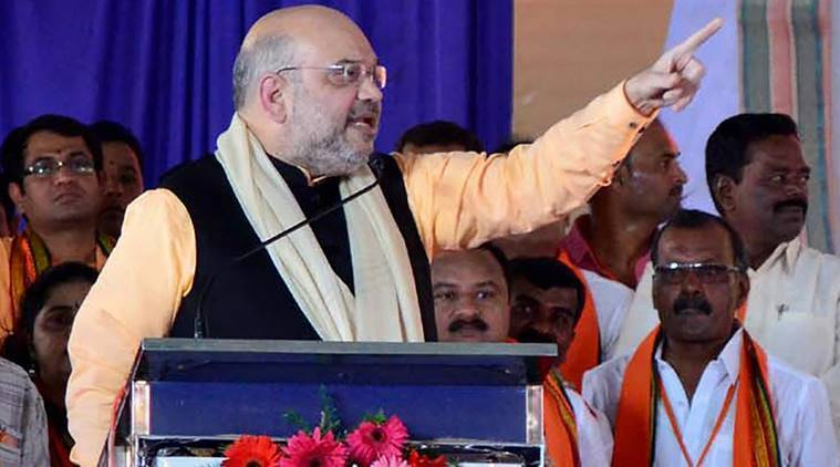 Amit Shah hots up Karnataka: Congress govt is anti-Hindu