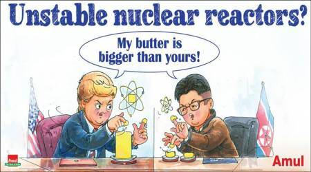 Amul's cartoon on Donald Trump and Kim Jong-Un's 'nuclear button' fight is bang on!