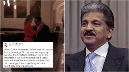 VIDEO: Anand Mahindra shares clip of couple 'tango-ing in a hauntingly empty ballroom' inDavos