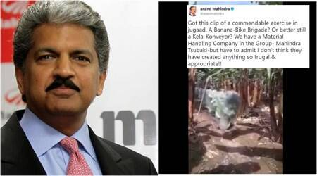 Awestruck Anand Mahindra tweets about 'jugaad' Kela-Konveyor, Twitterati suggest quirkier names
