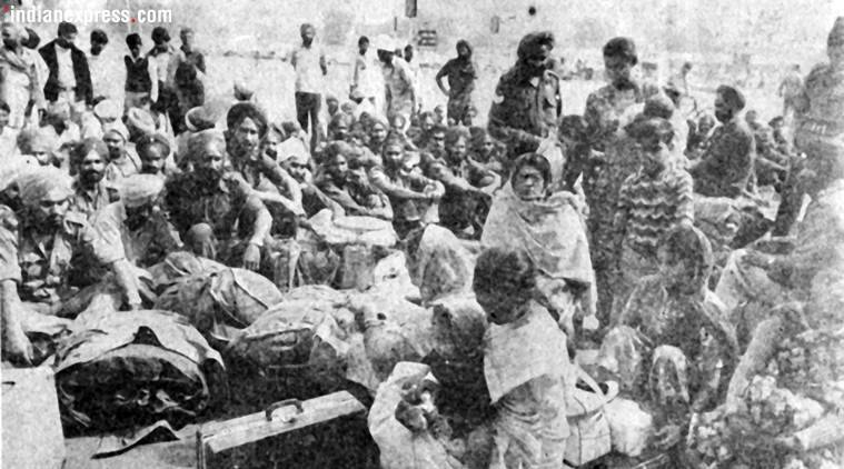 Sikhs fleeing the capital stranded at the New Delhi railway station on November 2 during 1984 riots in Delhi. Express archive