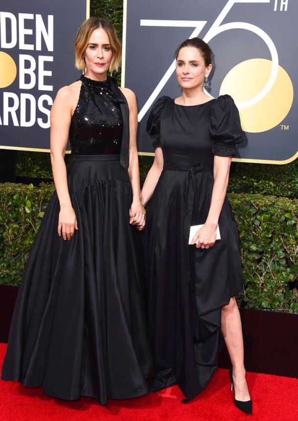 Sarah Paulson, Amanda Peet golden globes