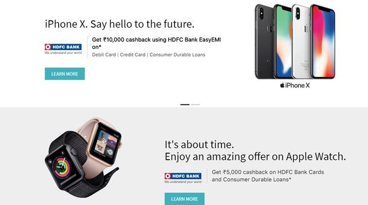 Apple, Apple iPhone X, Apple HDFC Bank cashback offer, Apple iPhone X cashback offer, iPhone 8 cashback offer, iPhone 7 cashback, Apple MacBook cashback