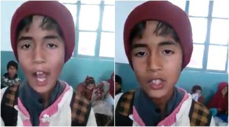 VIDEO: Pakistani school kid SINGS his leave application to the HEADMASTER