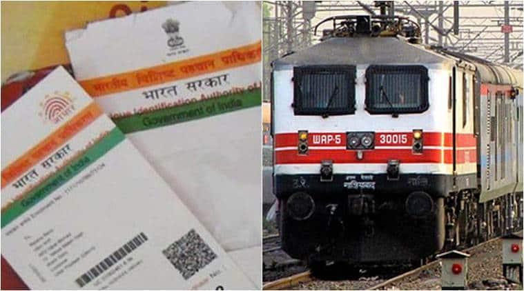 Aadhaar, Aadhaar card, Railways, Indian Railways, Aadhaar in Railways, Aadhaar in Indian Railways, Rajen Gohain, MOS Rail Rajen Gohain, India News, Indian Express, Indian Express News