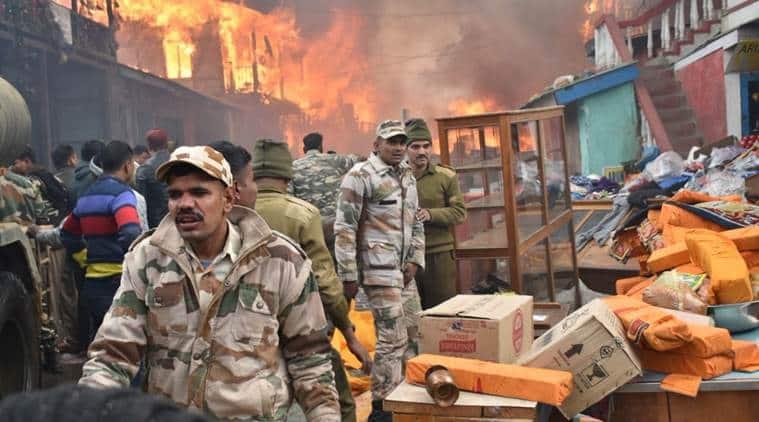 fire in Arunachal pradesh's dirang town