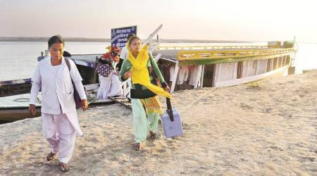 In Assam river islands, boats, ASHA workers pusheffort