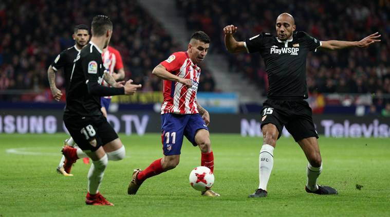 Atletico Madrid, Atletico Madrid vs Sevilla, Sevilla Atletico Madrid, Atletico Madrid incident, sports news, football, Indian Express