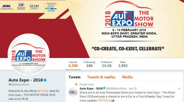Auto Expo 2018, Twitter SIAM partnership, Society of Indian Automobile Manufacturers, Auto Expo-The Motor Show, #AETMS18, Auto Expo emoji, Tata Motors