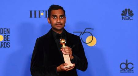 aziz ansari golden globes first asian