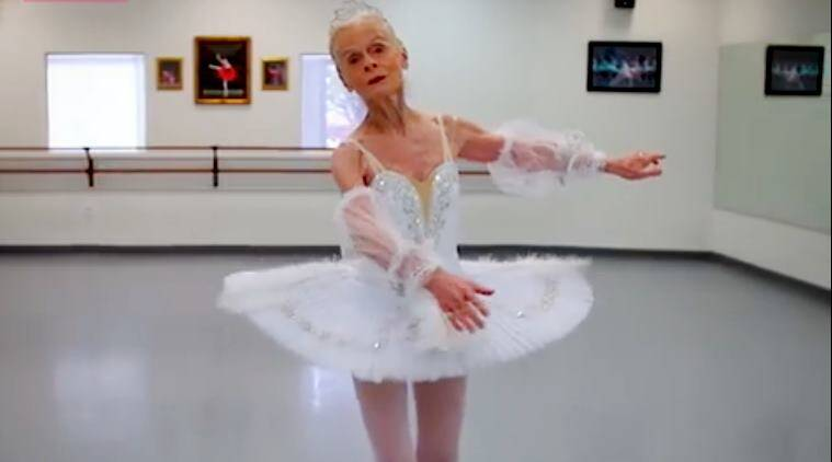 ballerina for 70 years, 70 year old ballerina, lady ballets at 70, age no bar, woman ballets at 70,