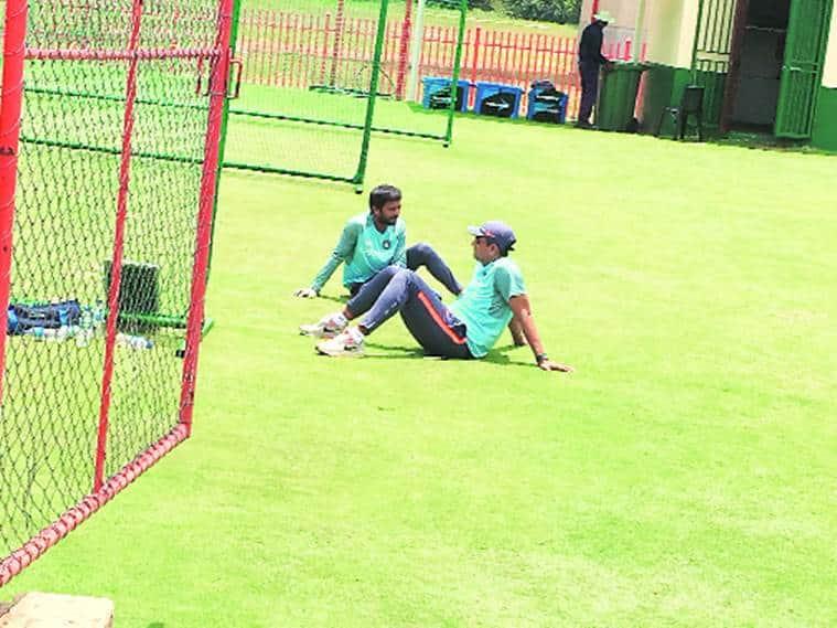 Like the Indian batsmen batting coach Sanjay Bangar and throwdown specialist Raghu put in a long shift