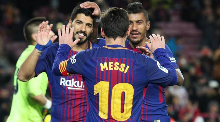 Barcelona vs Levante, Lionel Messi, Luis Suarez, La Liga, La Liga results, sports news, football, Indian Express