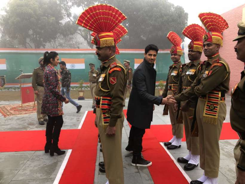 aiyaary team at wagha border on republic day