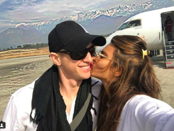 aashka goradia with husband brent goble in himachal pradesh