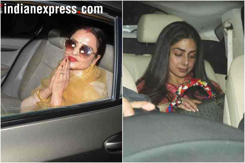 rekha and sridevi at padmaavat screening