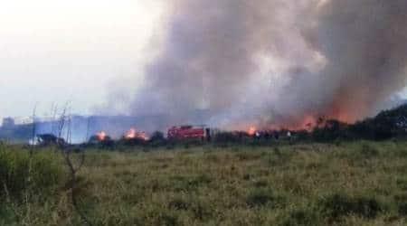Bellandur fire in Bengaluru