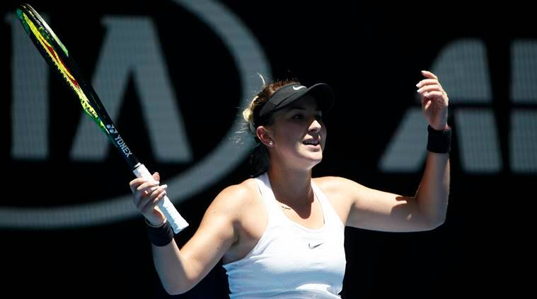 Belinda Bencic in action against Luksika Kumkhum at Australian Open