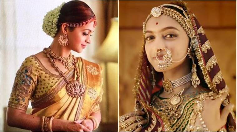 Bhavana's bridal look inspired by Deepika Padukone in Padmaavat