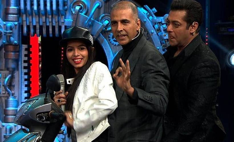 dhinchak pooja with salman khan and akshay kumar