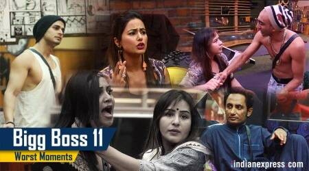From Akash kissing Shilpa Shinde forcibly to Hina Khan slut shaming Arshi Khan, here are the worst moments of Bigg Boss 11