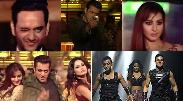 Salman Khan sets the Bigg Boss 11 finale stage on fire with Shilpa, Hina, Vikas and Puneesh; watch video