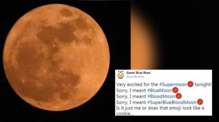 Super blue blood moon: Twitter bursts with excitement and jokes for the lunar eclipse
