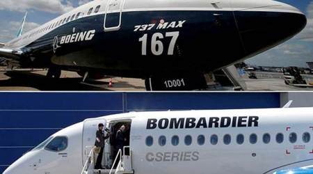 US trade body backs Canadian plane maker Bombardier againstBoeing