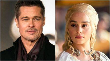 emilia clarke brad pitt game of thrones khaleesi