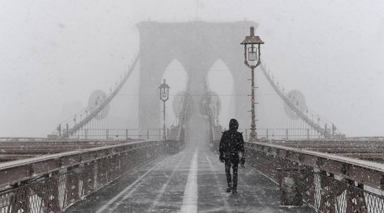 Bomb Cyclone, Blizzard, US weather, What is Bomb Cyclone, US East Coast and Midwest, US storms, bombogenesis, World News, Indian Express