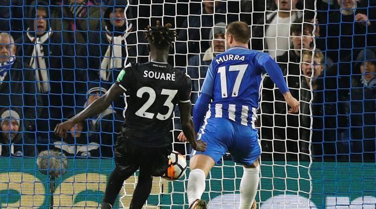 Brighton's Glenn Murray scores past former team Crystal Palace in the FA Cup
