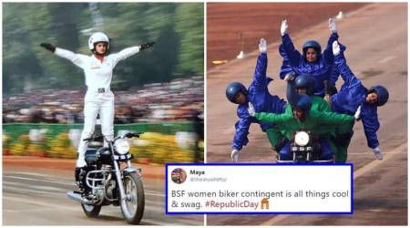 WATCH: All-woman BSF bikers create history with Republic Day debut; Twitterati beam withpride