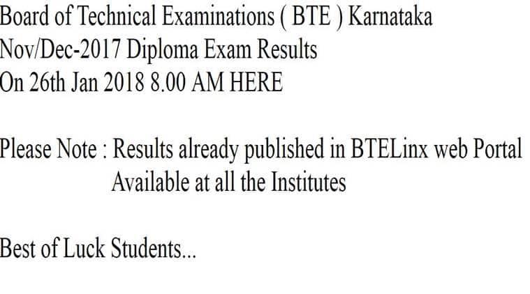 dte karnataka, btelink, dte karnataka results