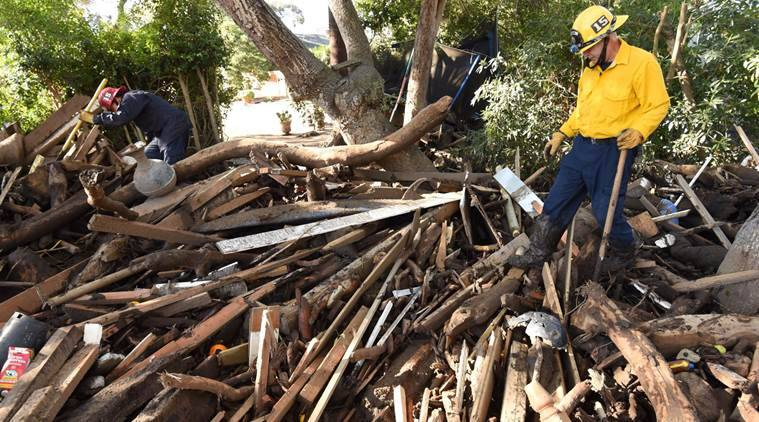california mudslide, montecito, california rains, montecito mudslide disaster, santa barbara county, us news, indian express