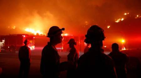 Thousands evacuated ahead of fast-moving Californiawildfire
