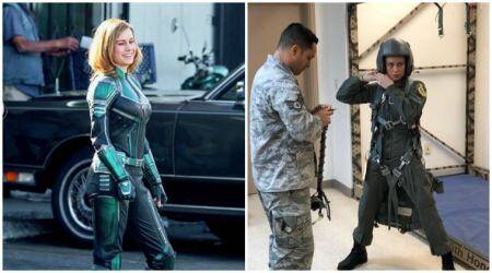 First set photos of Captain Marvel starring Brie Larson and Samuel L Jackson are out