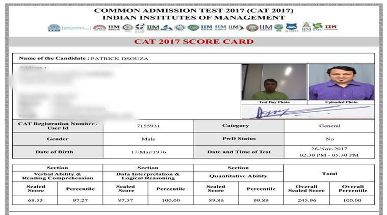 CAT 2017 Results out: Check your score card