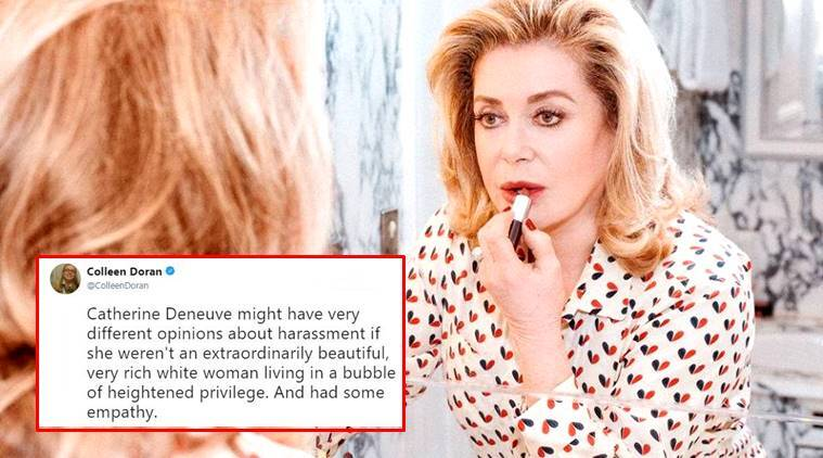Catherine Deneuve, French actor, #Metoo movement, #Balancetonporc, Catherine Deneuve denounces me too, Catherine Deneuve letter, sexual assault, indian express, indian express news