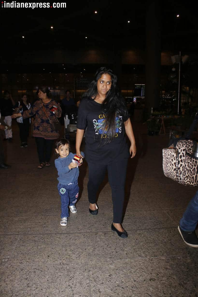 salman khan arpita khan airport spotted