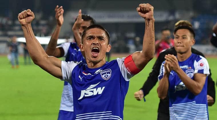 Sunil Chhetri, Sunil Chhetri Bengaluru FC, Bengaluru FC vs ATK, ISL, Indian Super League, Indian Super League schedule, sports news, football, Indian Express