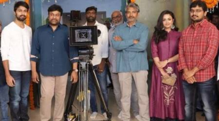 Chiranjeevi launches son-in-law SS Rajamouli