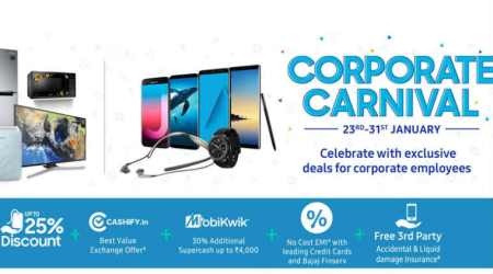 Samsung Corporate Carnival: Discounts on Galaxy Note 8, Galaxy S8, Galaxy A8+, and more