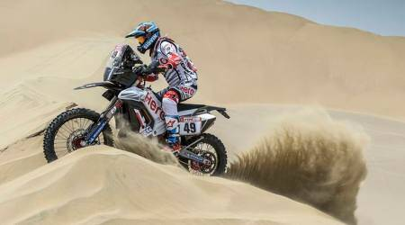 CS Santosh 13th after 1st stage of Dakar Rally