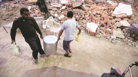Demolished by DDA: Hostel for blind razed month ago, its occupants linger amid rubble