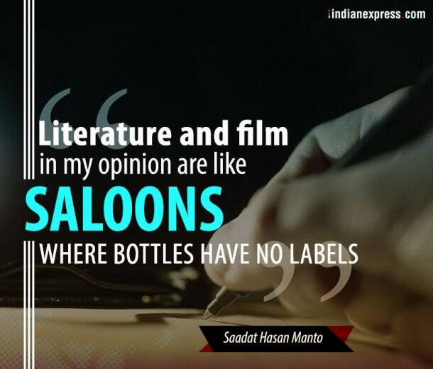 Saadat Hasan Manto, manto works, manto death anniversary, manto quotes, manto and partition, indian express, indian express news