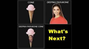 Deepika Padukone vs an ice cream cone: Padmaavat star designs her own meme