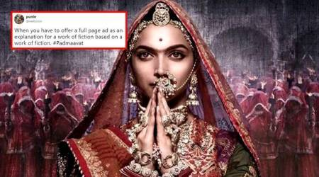 'Death of democracy?': Padmaavat's full-page disclaimer ad leaves Twitterati seething with anger