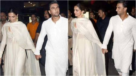 Padmaavat screening: Deepika Padukone steps out in an elegant white anarkali