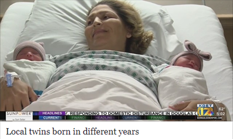 twins born on same day different years, Twins born in different years, Maria Esperanza Flores Rios, Maria Esperanza Flores Rios birth twins,